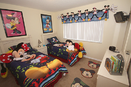 Mickey Mouse Twin Bedroom Now